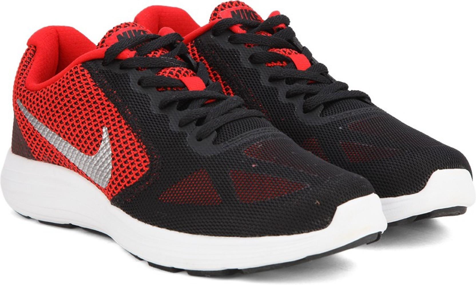nike revolution 3 running shoes buy university red