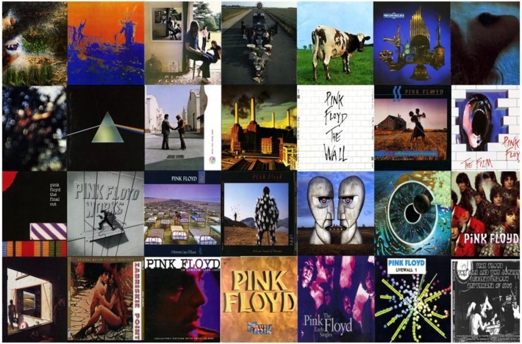 Pink Floyd Album Covers Poster Paper Print