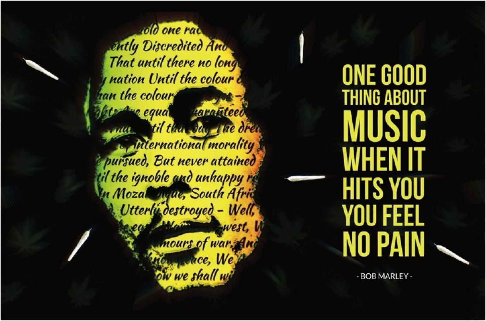 Bob Marley Music | Lyrics | Weed Poster Paper Print - Music posters ...