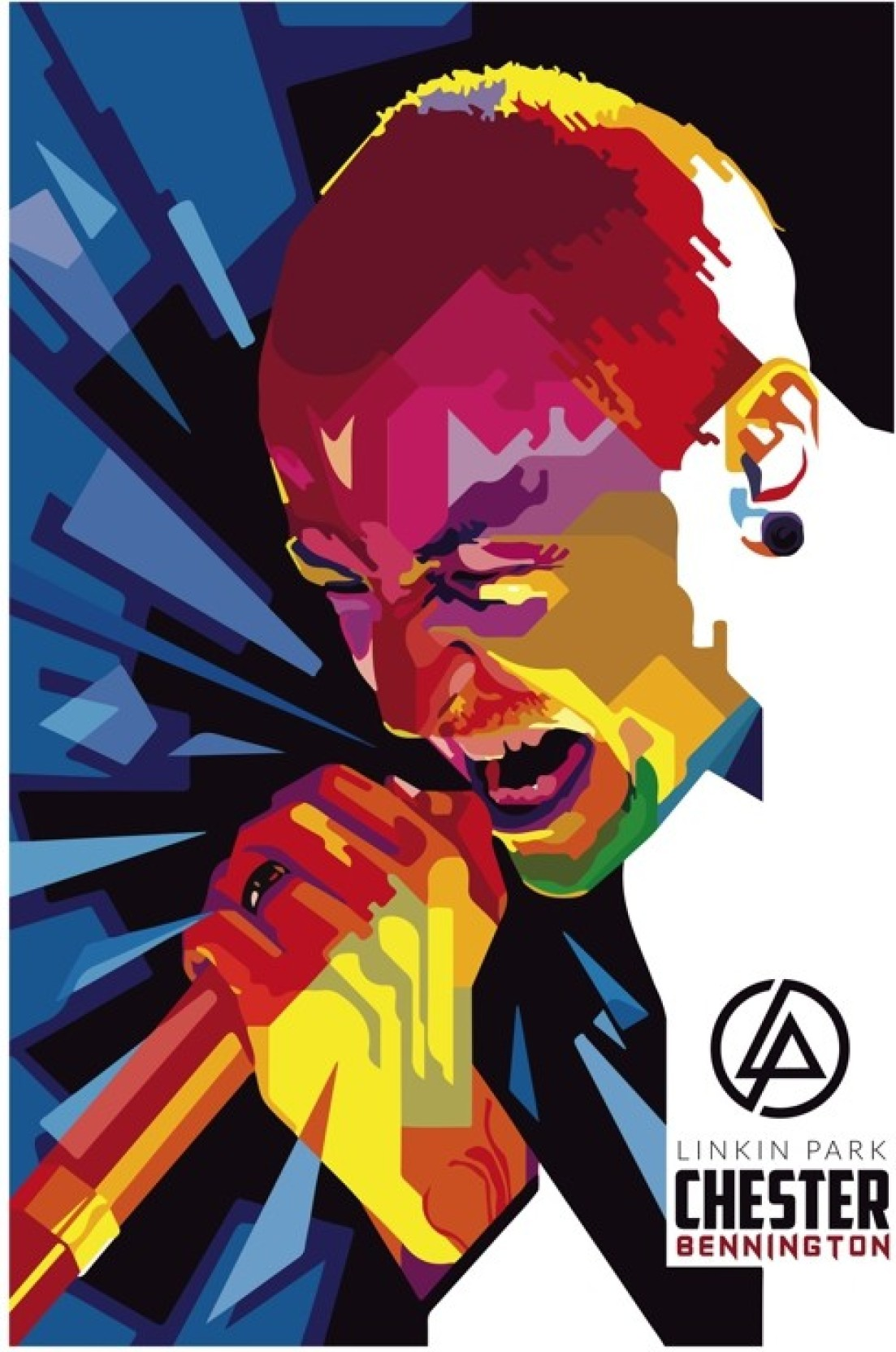 Chester Bennington Linkin Park Music Illustration Poster