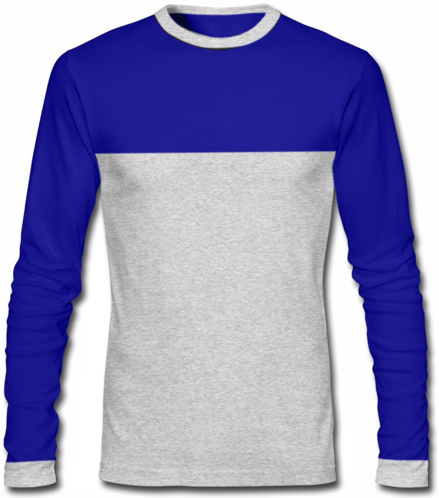 Ghpc solid men 39 s round neck blue t shirt buy royal blue for Best place to buy t shirts online