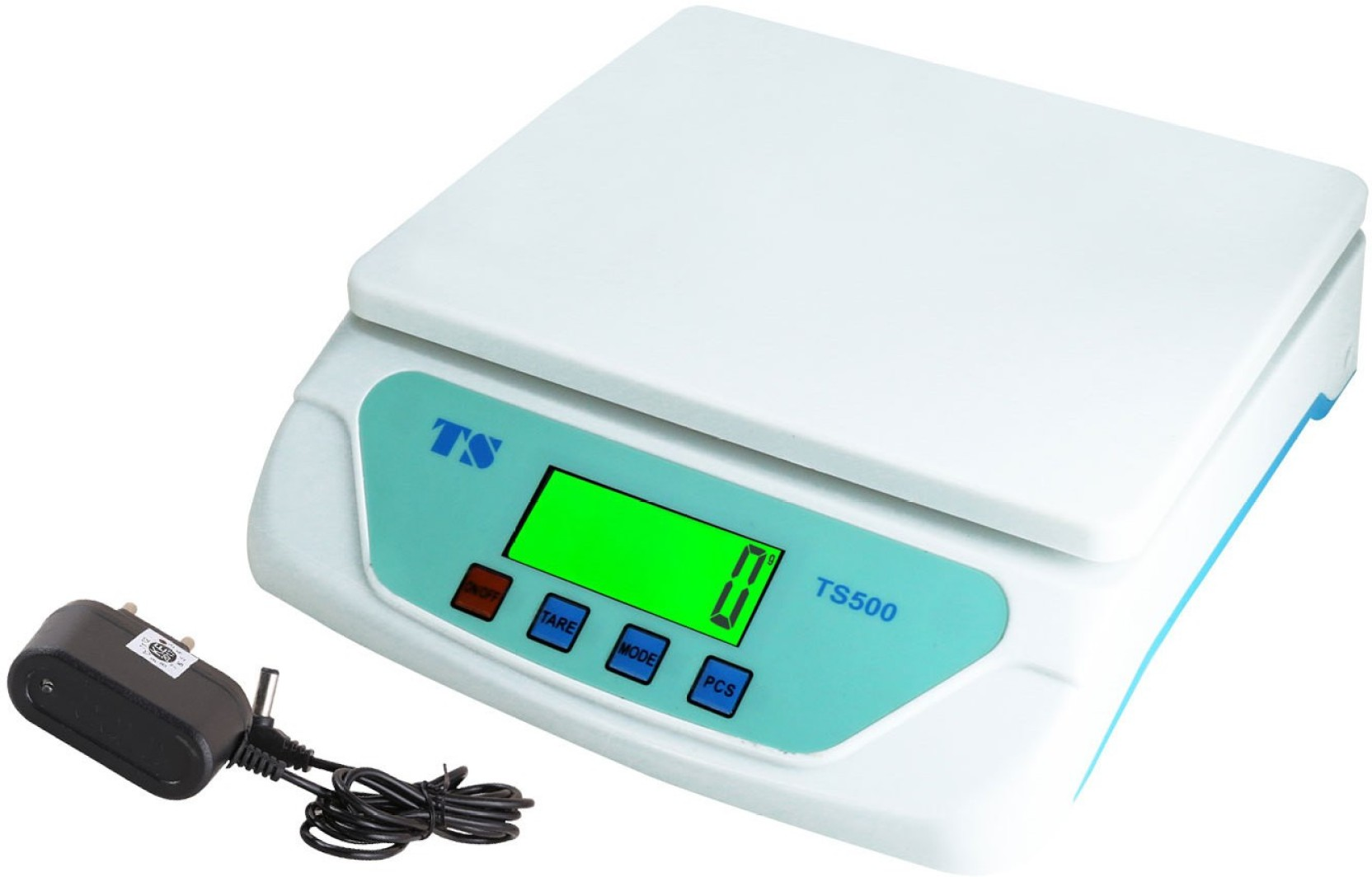 Zblack Ts-500v White Electronic Digital 30 kg With Adapter Weighing ...