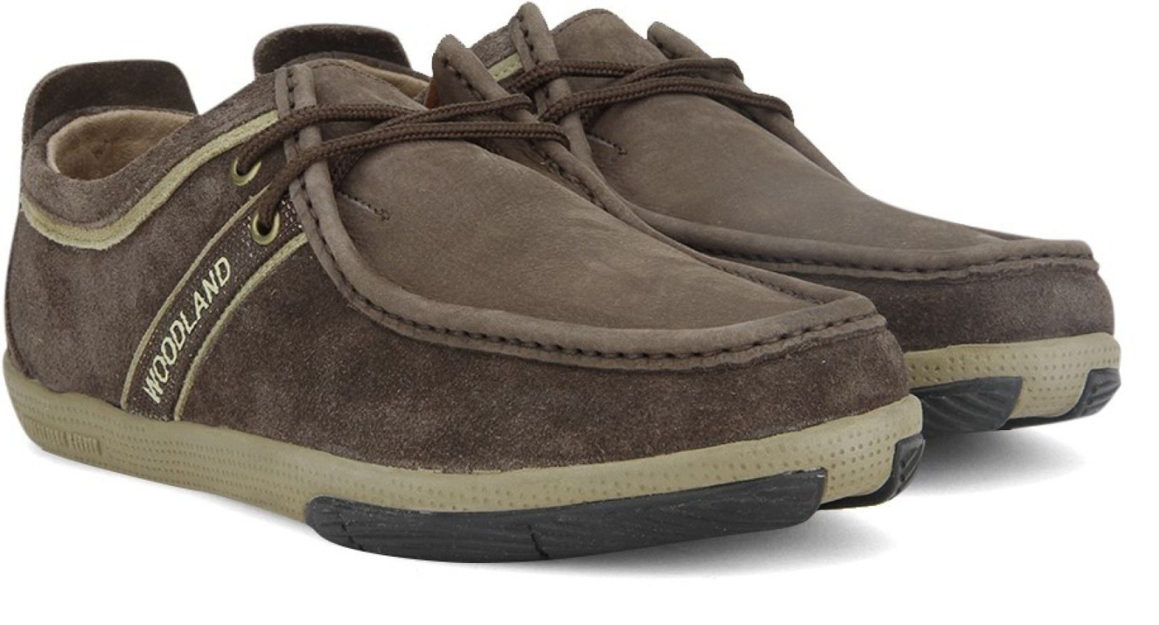 Woodland Leather Outdoor Shoes - Buy DBROWN Color Woodland ...