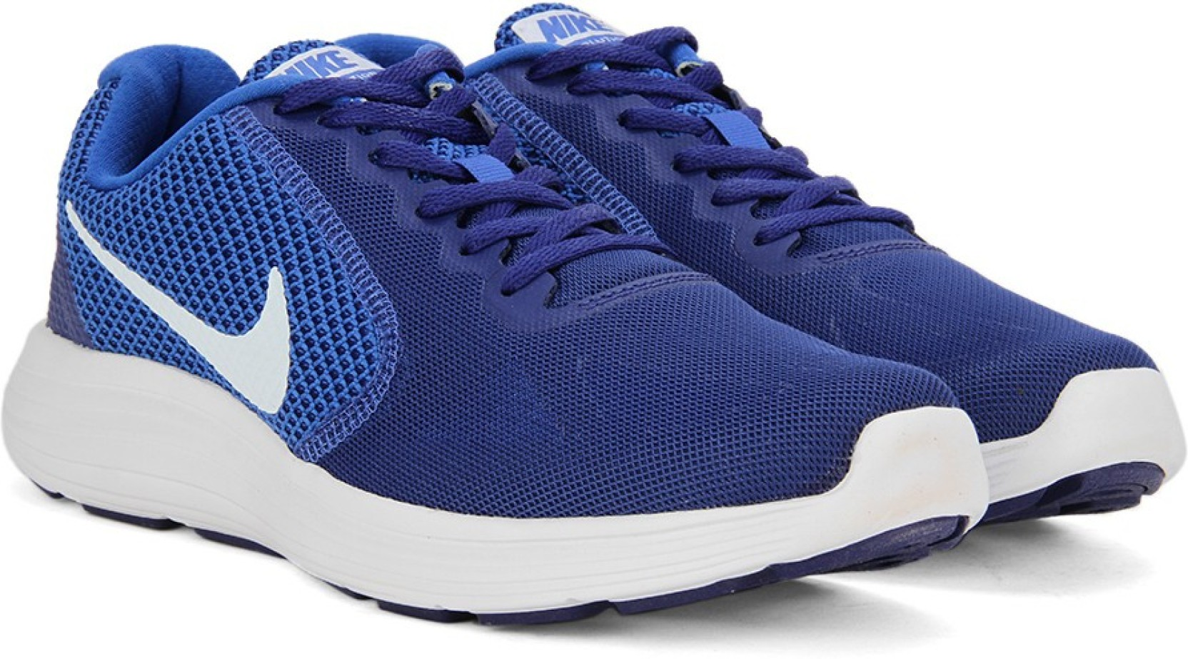 Nike Grey And Blue Sport Shoes