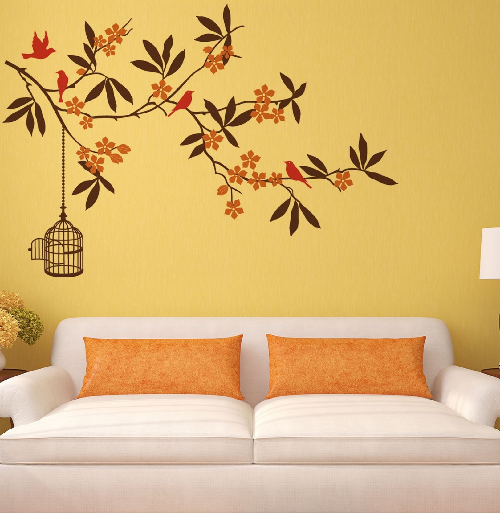 New Way Decals Wall Sticker Floral & Botanical Wallpaper Price in ...