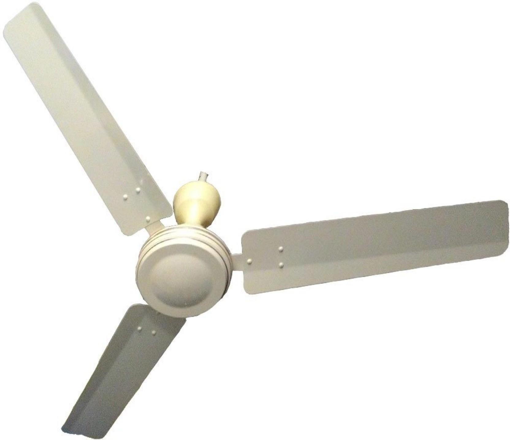 Belifal Solar 12V DC Ceiling Fan BLDC Technology Cream 3 Blade
