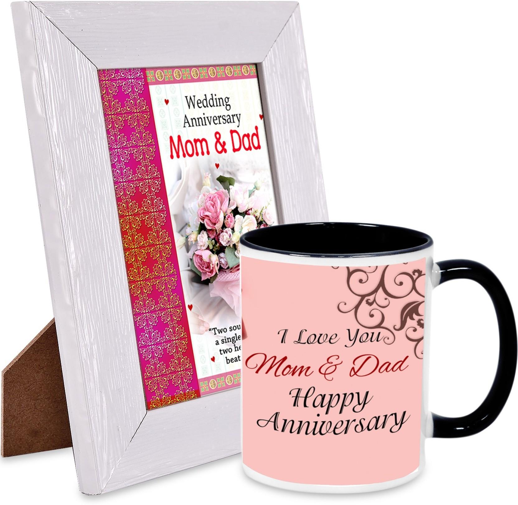 AlwaysGift Wedding Anniversary Mom & Dad Hamper Mug Gift Set Price ...