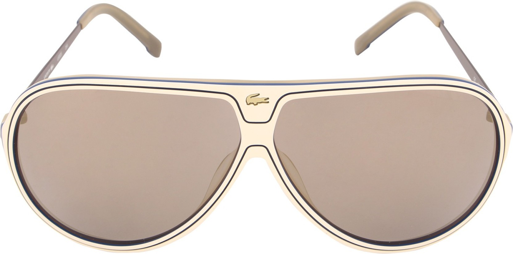ee0af12a73 Buy Lacoste Aviator Sunglasses Brown For Men Online   Best Prices in ...