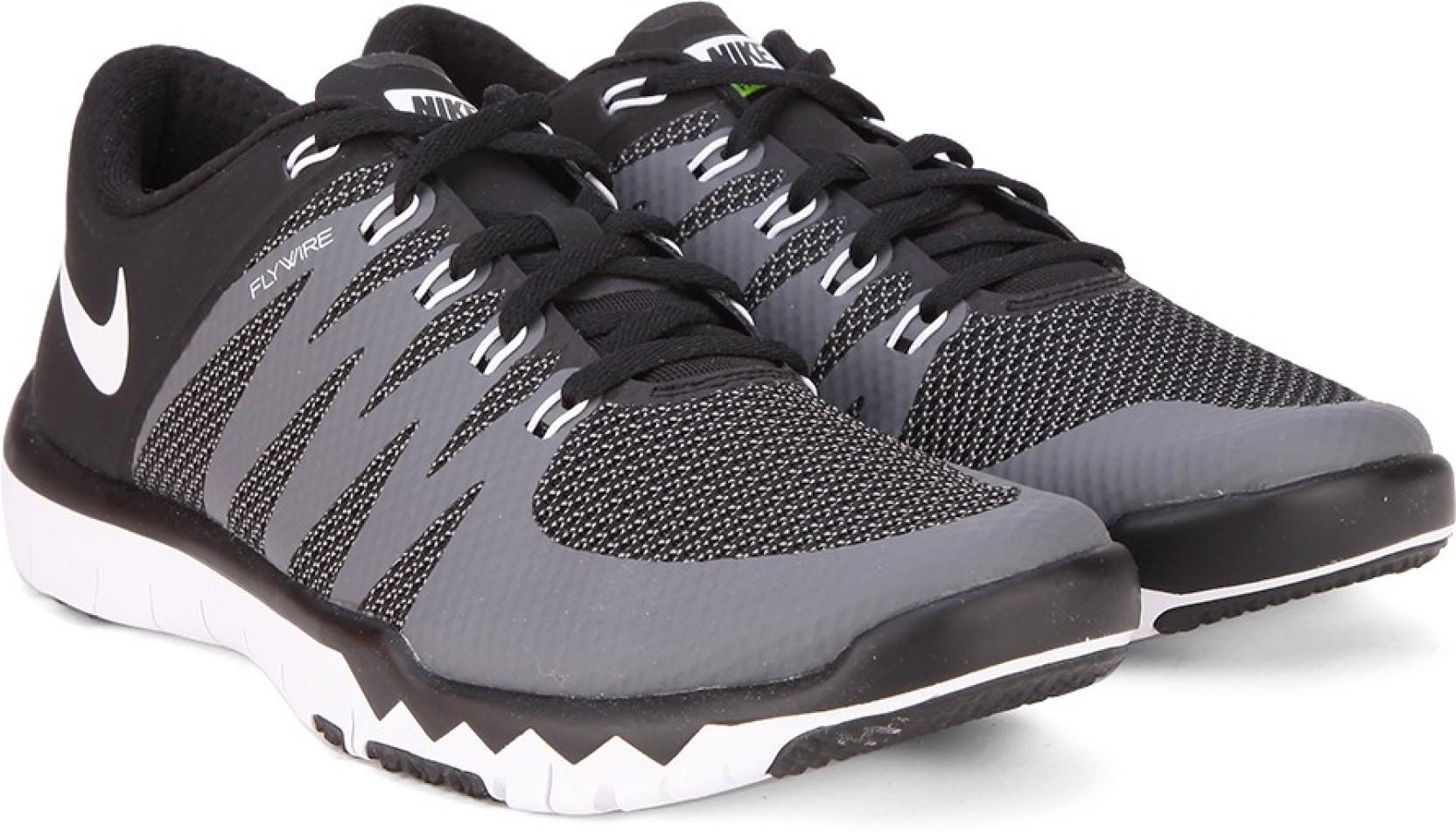 Nike FREE TRAINER 5.0 V6 Training Shoes For Men - Buy BLACK WHITE ... 3178af630