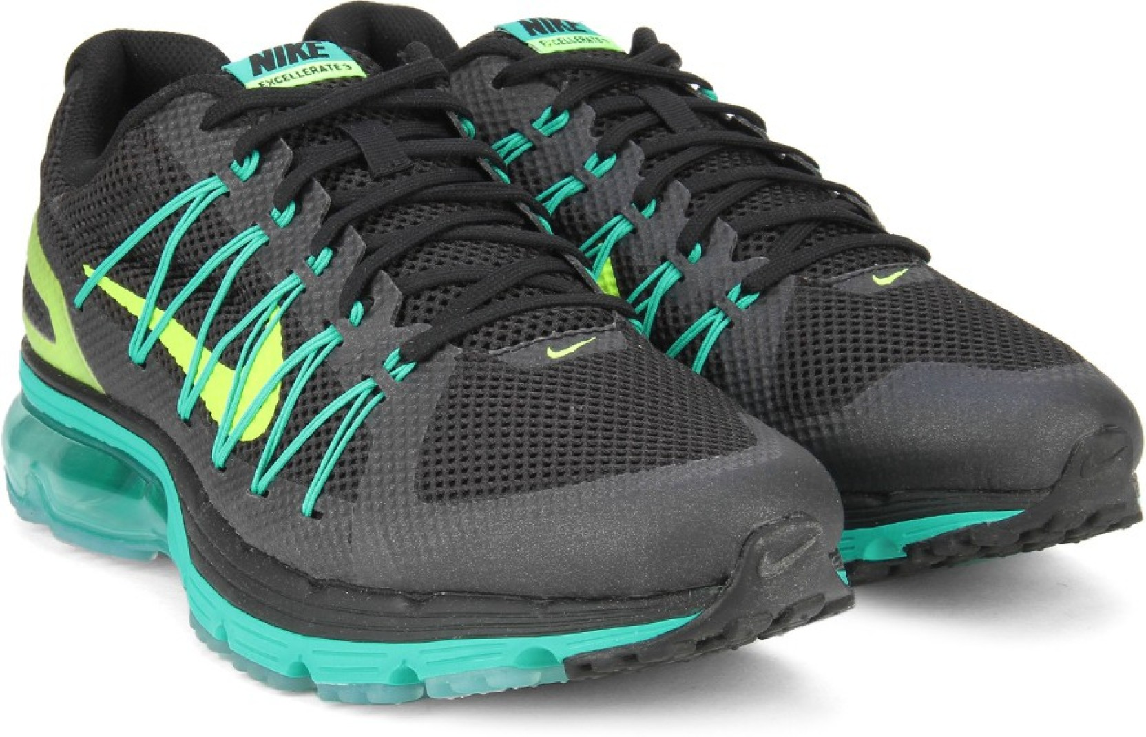 d59477306b16c Nike AIR MAX EXCELLERATE 3 Running Shoes For Men - Buy BLACK GREEN ...