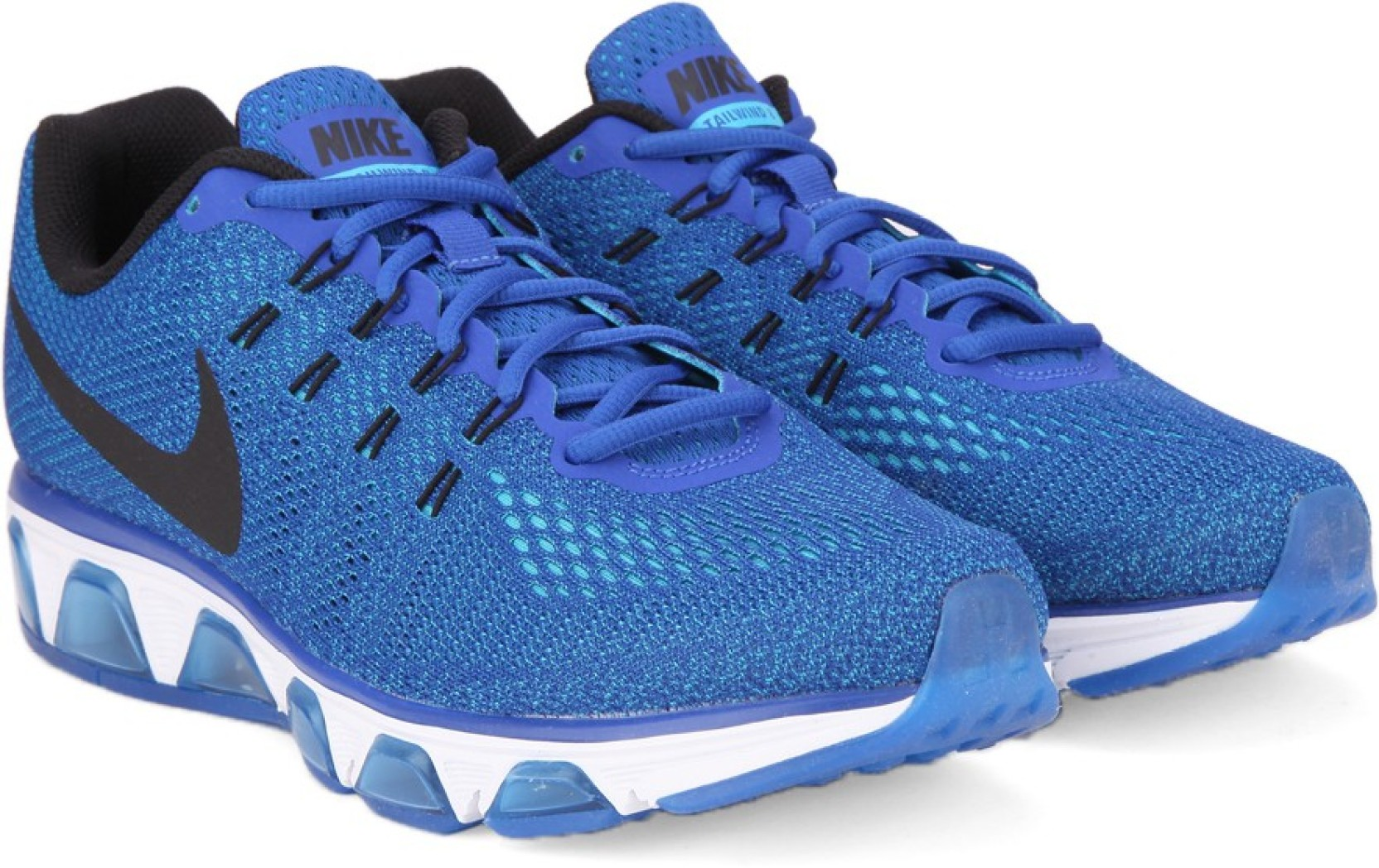 brand new 0488d 31e8e Nike AIR MAX TAILWIND 8 Running Shoes For Men (Blue, Black)