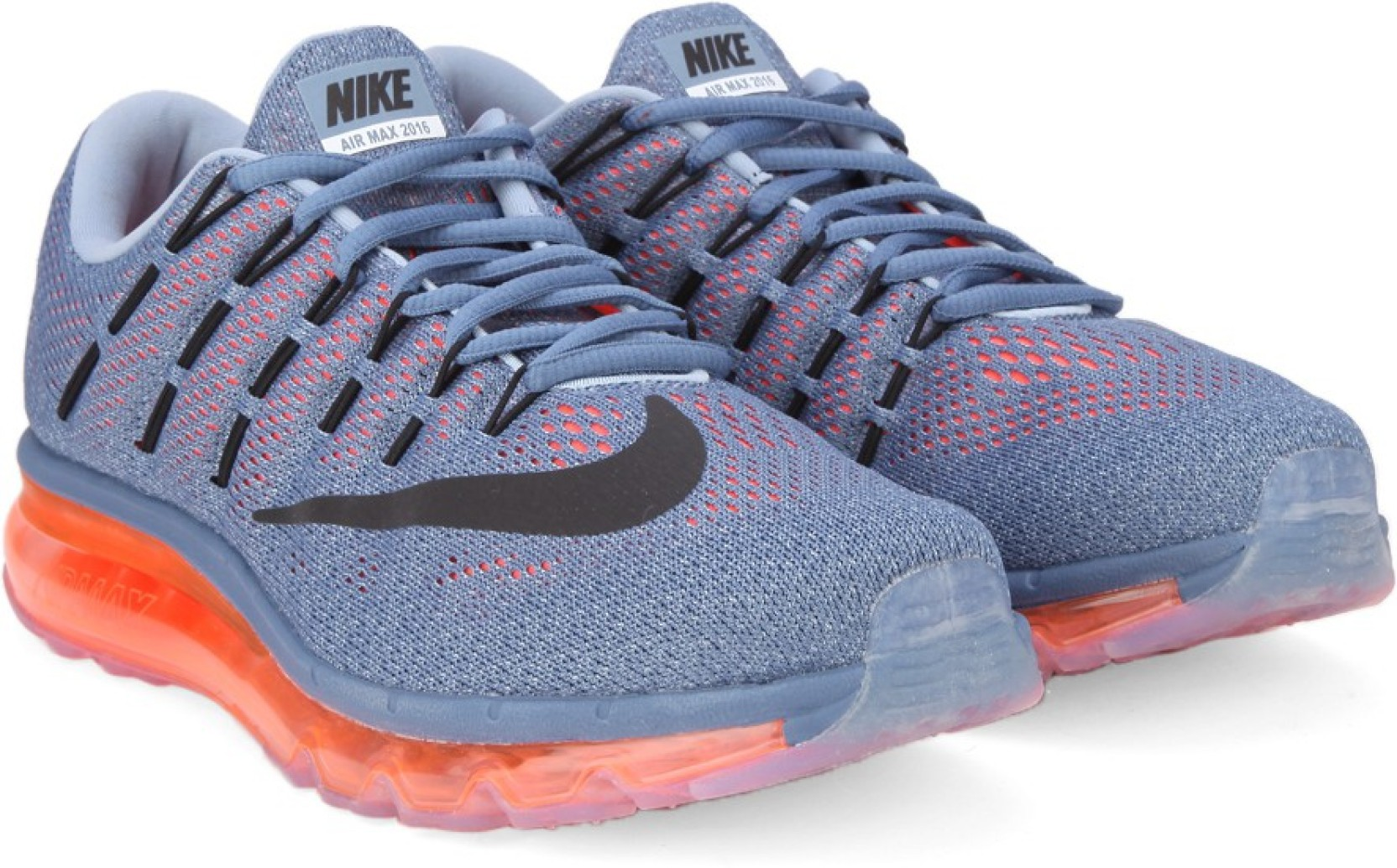 lowest price 657c6 7699c Nike AIR MAX 2016 Running Shoes For Men (Blue, Black)