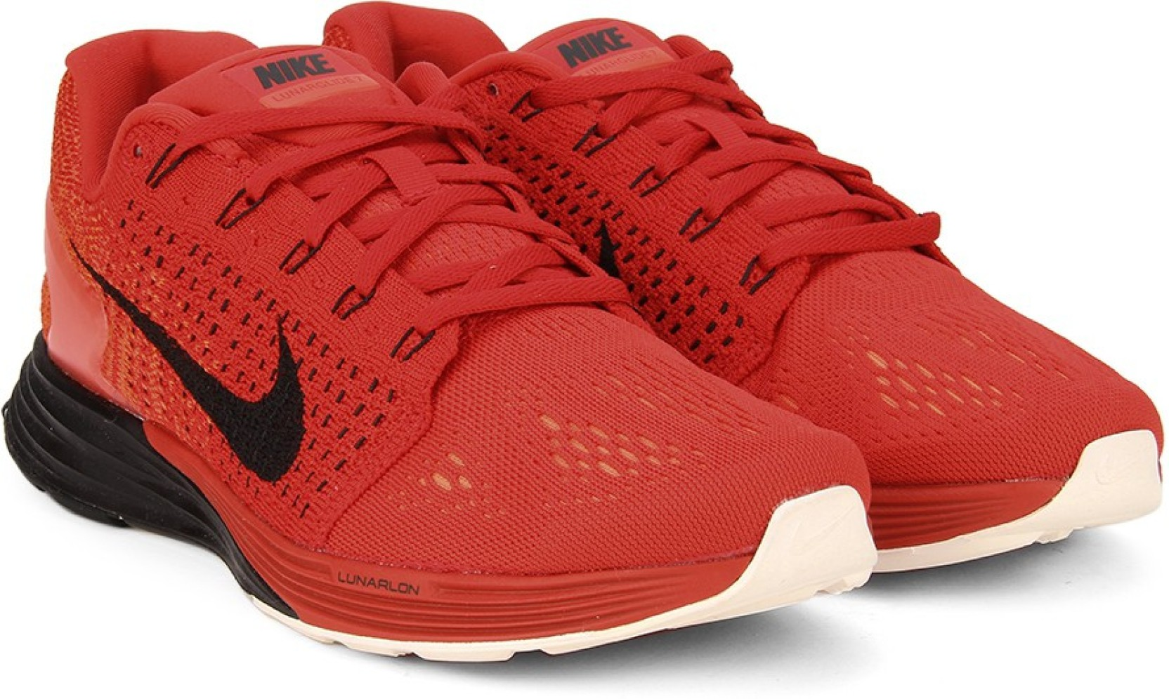 new styles 13142 6c1ca Nike LUNARGLIDE 7 Running Shoes For Men (Red)