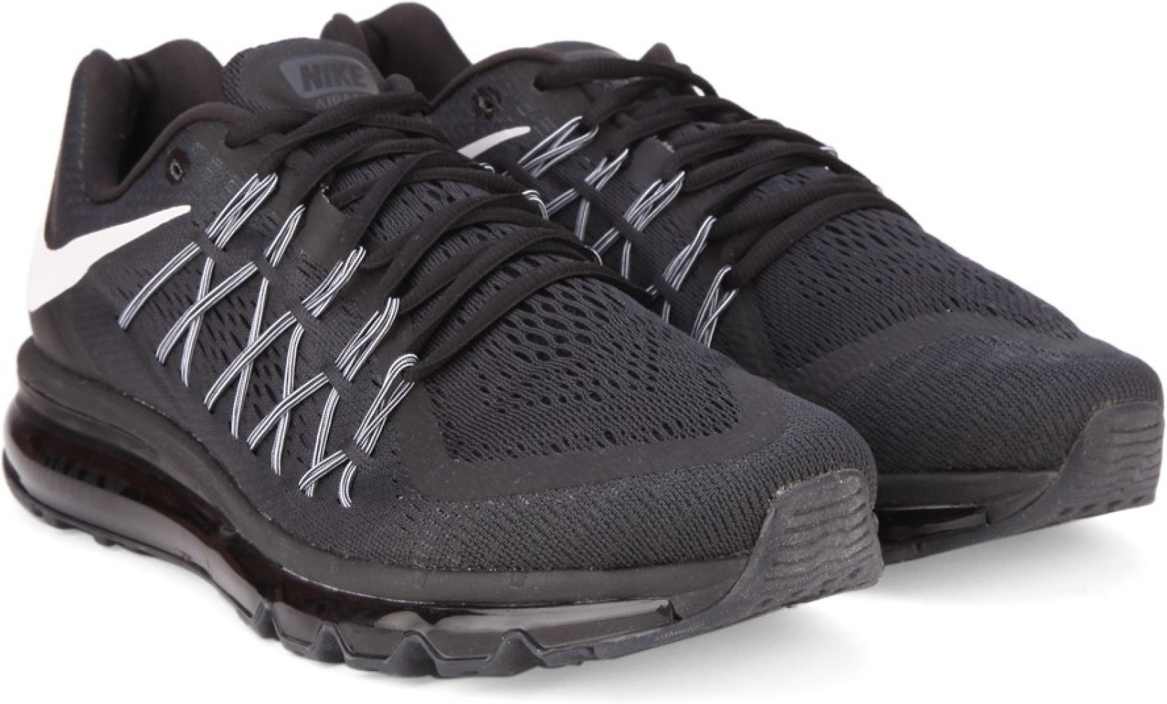 new style 64f05 cc8d8 Nike AIR MAX 2015 Running Shoes For Men (Black, White)