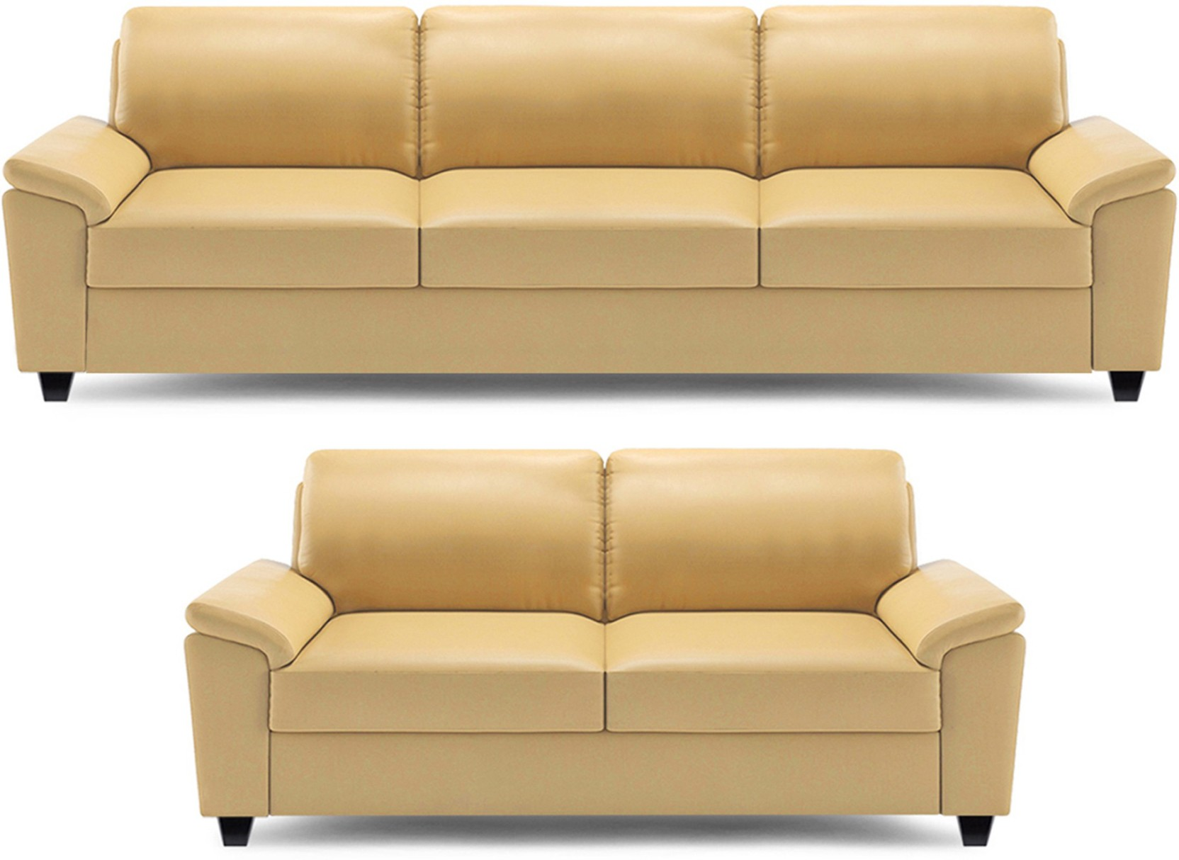 Dolphin Oxford Leatherette 3 2 Beige Sofa Set Price in India