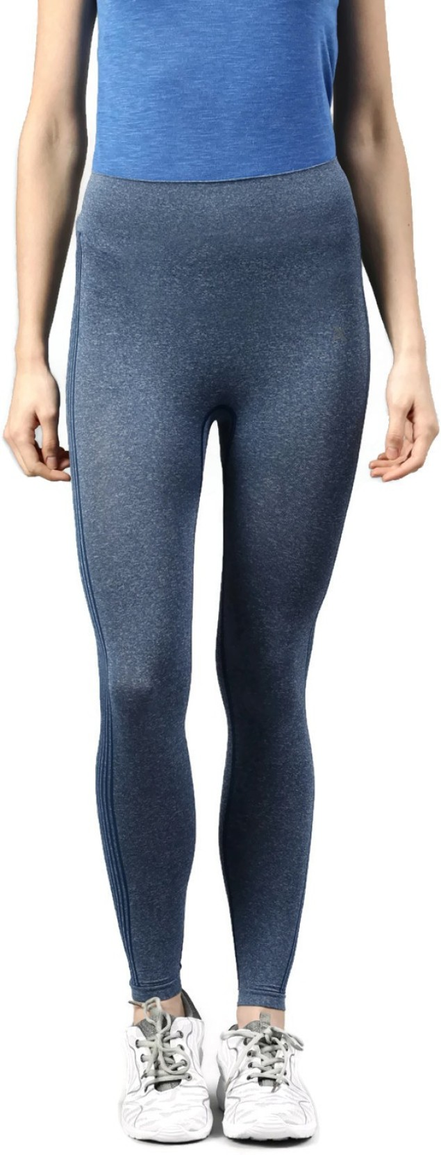 7069ed6642f0b HRX by Hrithik Roshan Solid Women's Blue Tights - Buy HRX by Hrithik ...