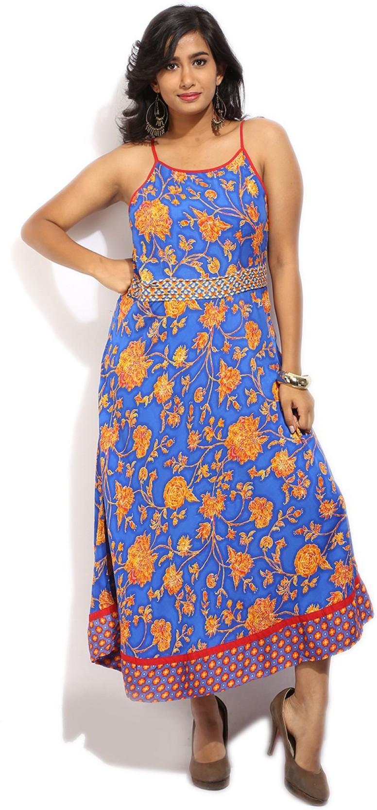 0897cb7a264 Biba Women s Maxi Multicolor Dress - Buy BLUE Biba Women s Maxi ...