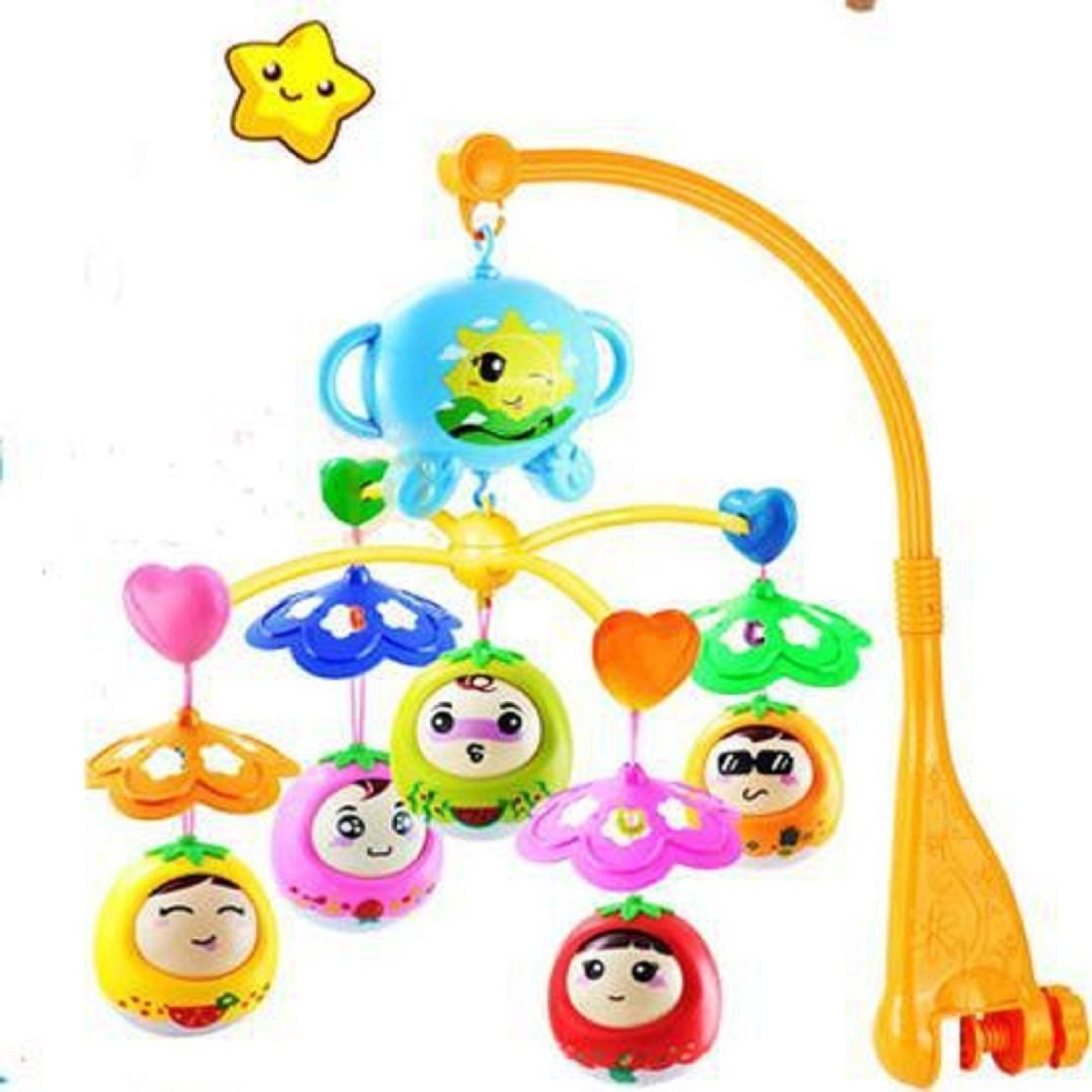Taaza Garam Baby Hand Bed Crib Musical Hanging Bell Ring Rattle
