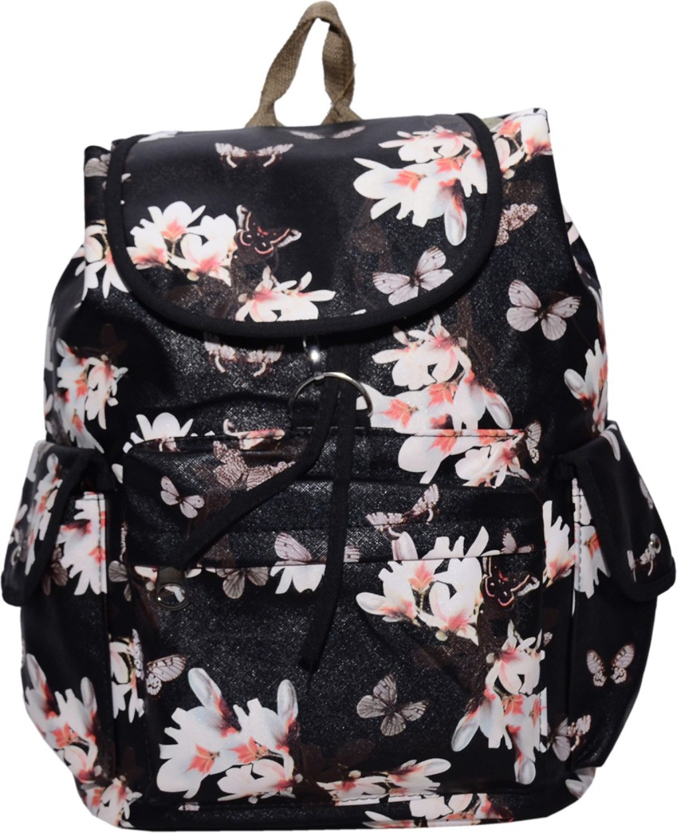 7ff5b1616e Ruff Multi Colour School bag Printed Backpack Casual Style Women Bags  Double-Shoulder Sweet Stripe Canvas School Collage Travel Bag Girls Backpack  3.5 L ...