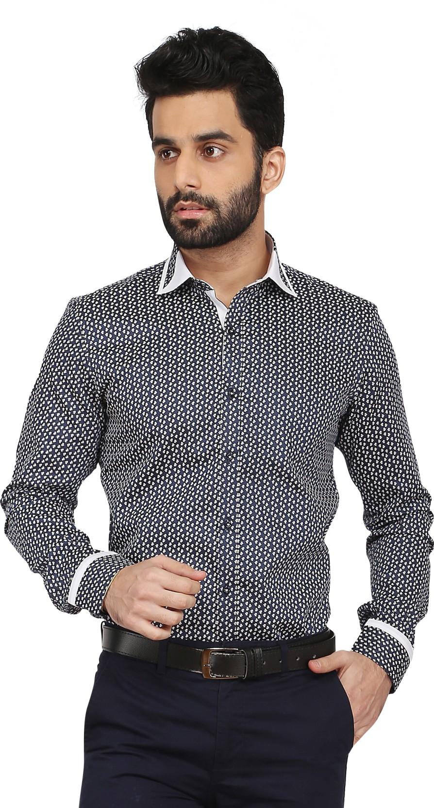 a9e2ebf846a5 Daagwood Men's Self Design Casual Shirt - Buy Daagwood Men's Self ...