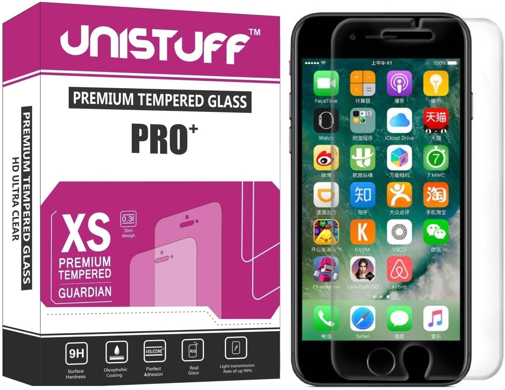 Unistuff Tempered Glass Guard For Apple Iphone 7 Plus 32gb Jet Black Grs International On Offer