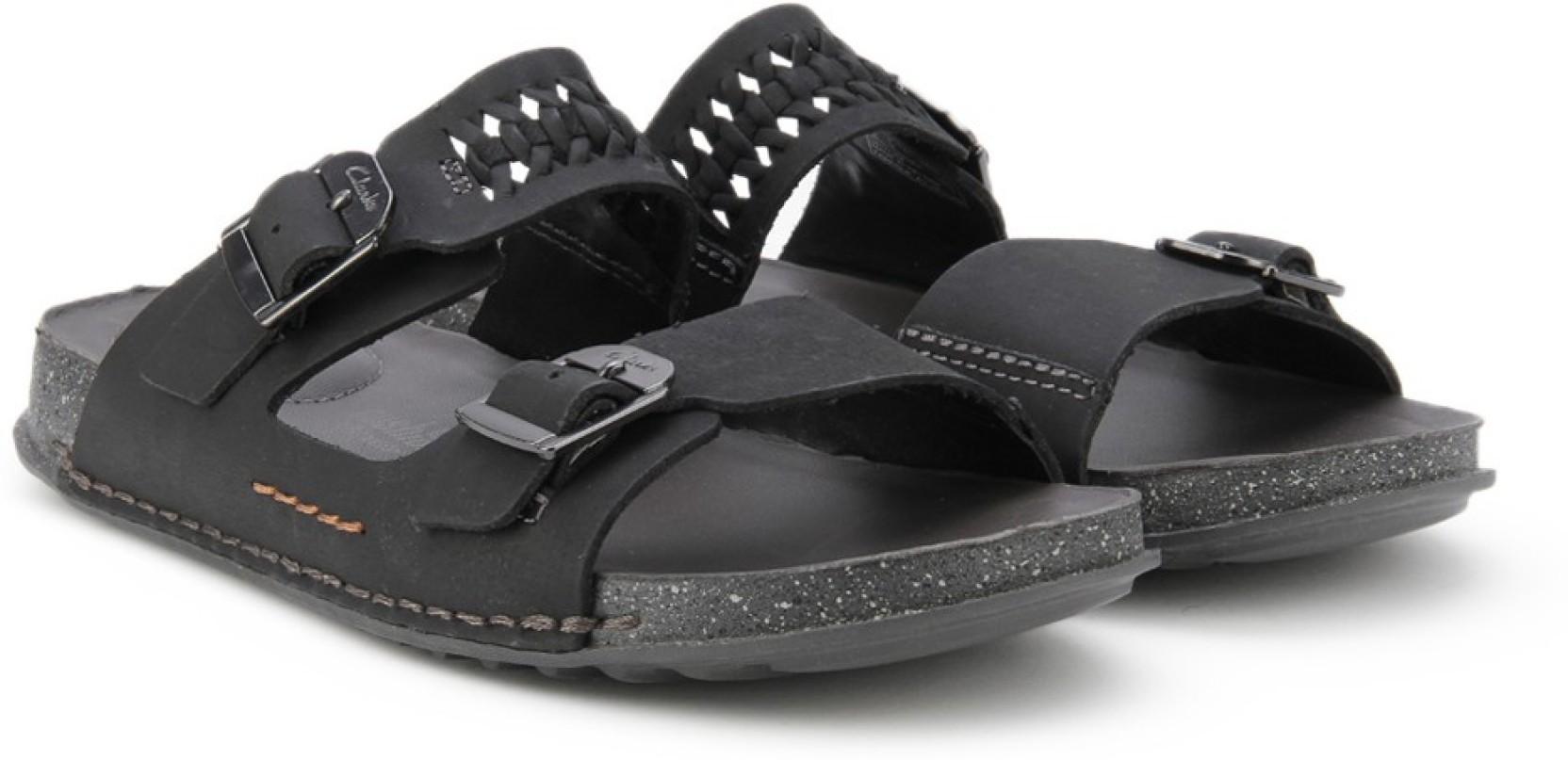 5de9ddf4eaee Clarks Men Black Nubuck Sandals - Buy Black Nubuck Color Clarks Men ...