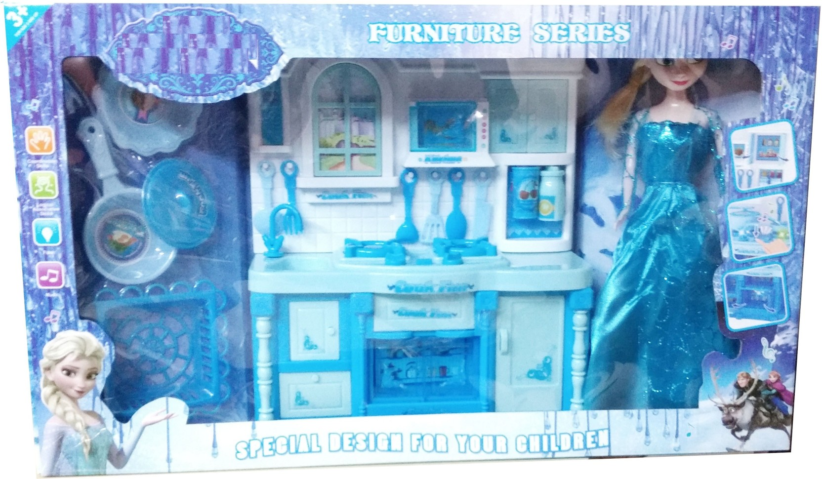 Krypton Frozen Doll Kitchen Set Cook Your Favorite Stuff With Elsa ...