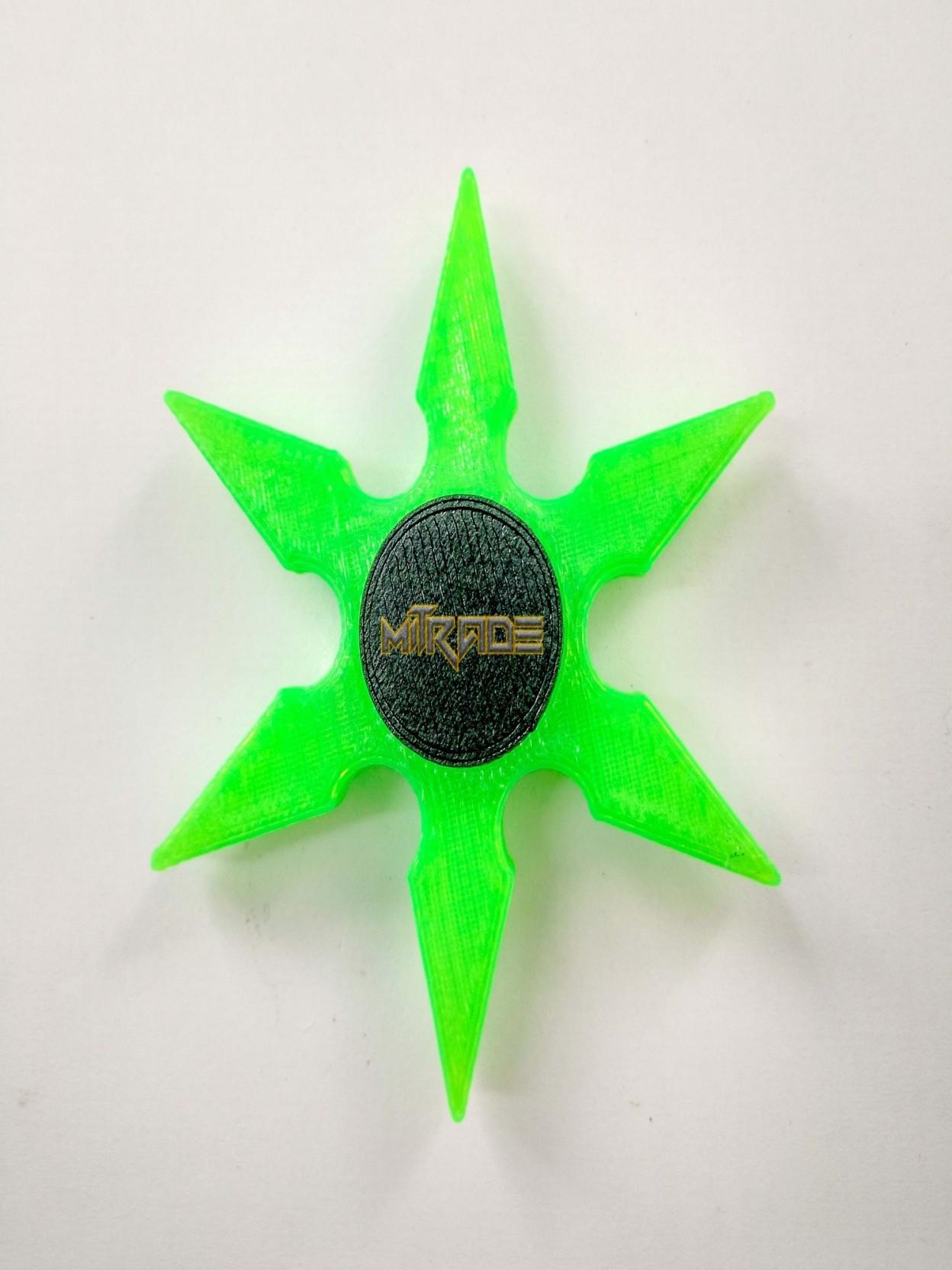 Mitrade Ninja Shurikken Fidget Spinner Crescent Tri Bar Handspinner Home