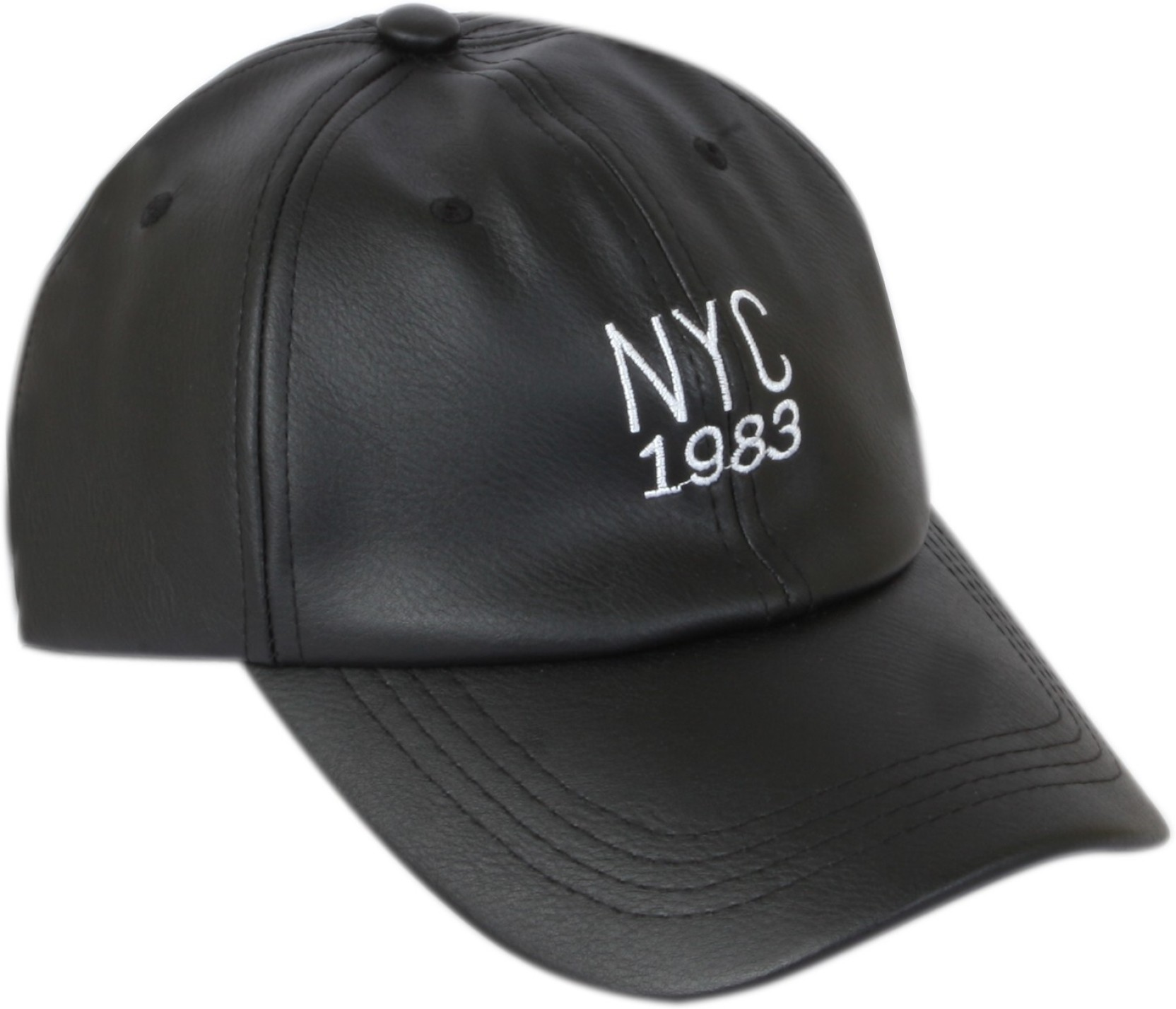 ILU NY Caps Black Leather for men and women 43d87c71e65