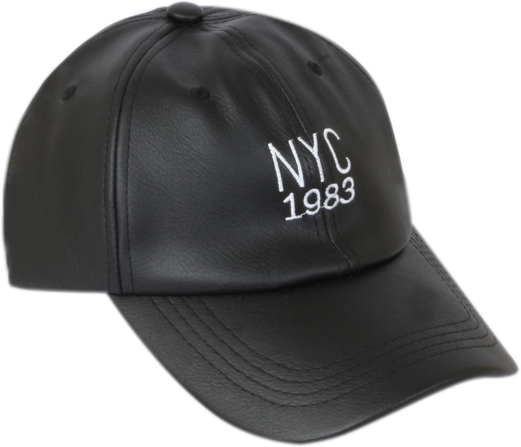 43d774c12 ILU NY Caps Black Leather for men and women, Baseball cap, Hip Hop,  snapback Cap, hiphop caps, sports cap, summer caps, sun caps, skull cap,  cricket ...
