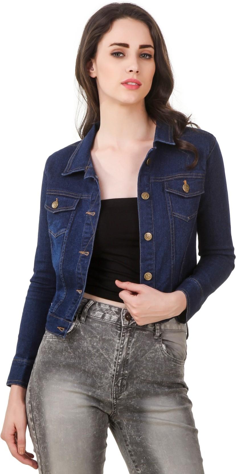Clo Clu Full Sleeve Solid Women Denim Jacket - Buy Clo Clu Full Sleeve Solid Women Denim Jacket ...