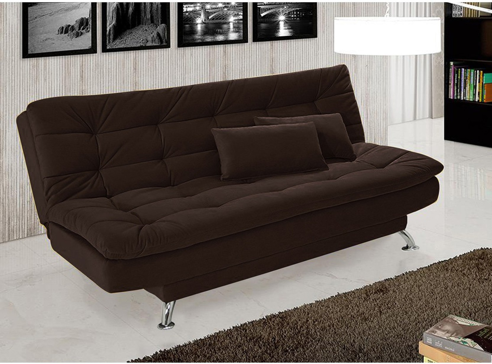 Furny supersoft double solid wood sofa bed price in india for Sofa bed price in india