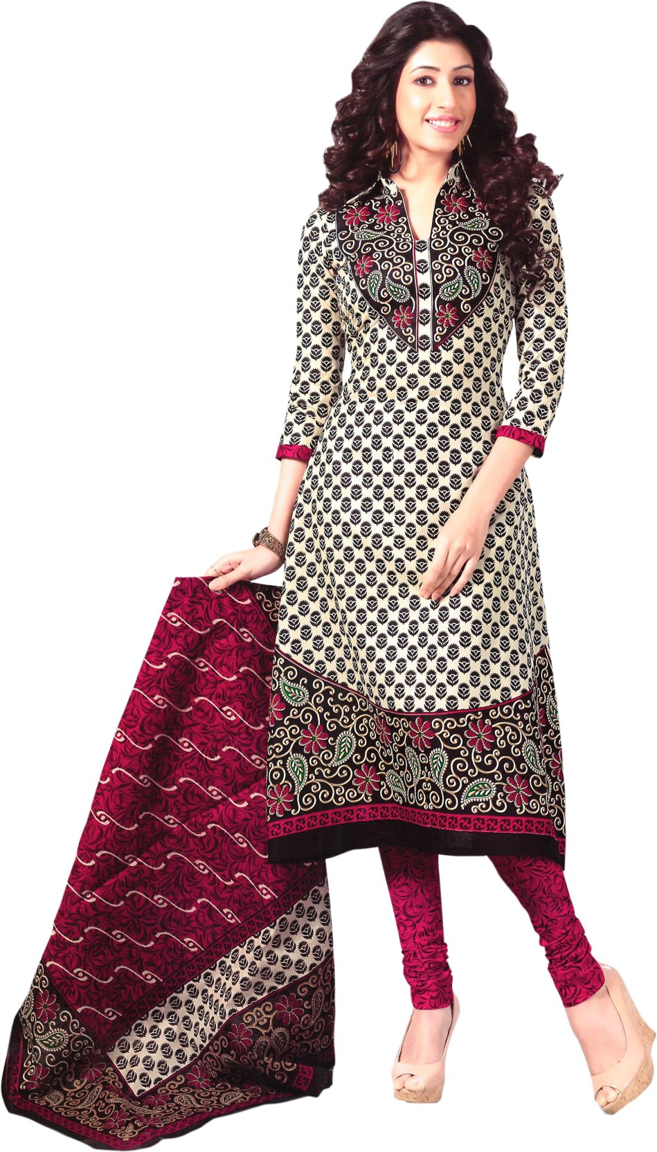 Reya Cotton Printed Dress/Top Material Price in India ...
