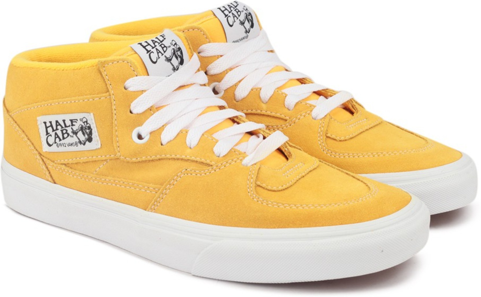 0da177bc72a5 Vans half cab mid ankle sneakers for men buy suede citrus true jpg  1664x1027 Yellow vans