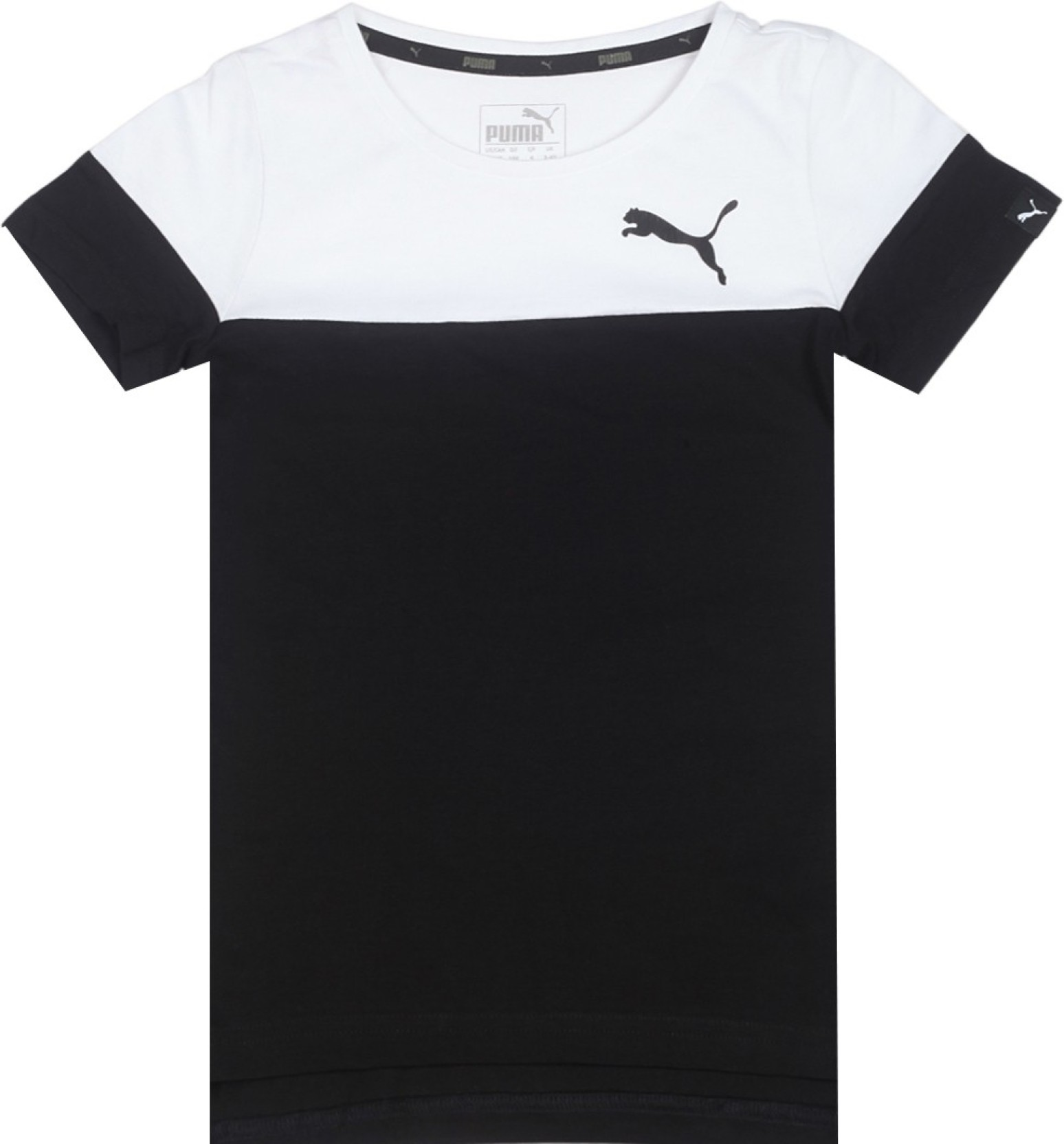 ad922f415ab0 Puma Boys Solid Cotton T Shirt Price in India - Buy Puma Boys Solid ...