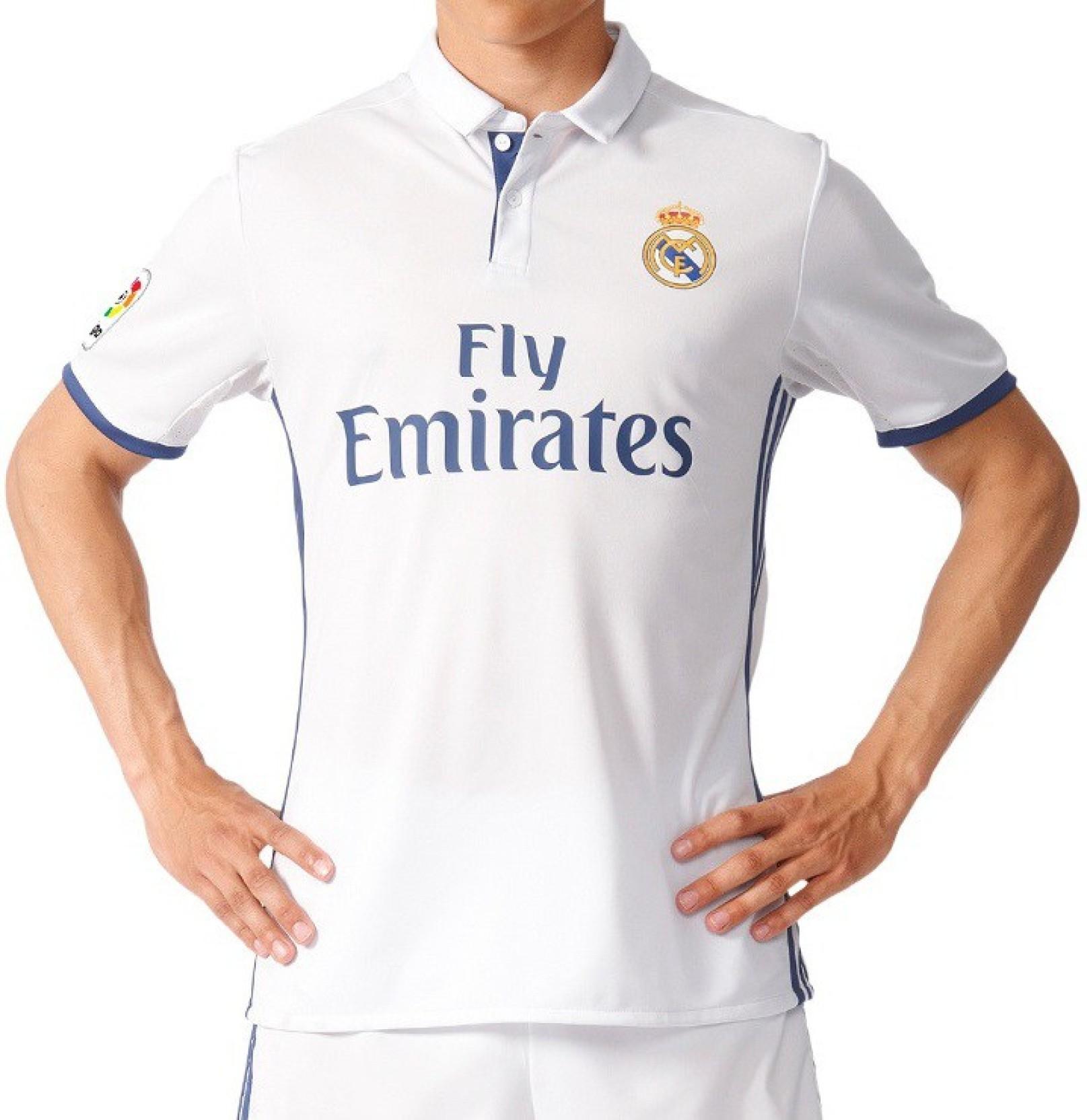 16671aaec Navex Footbal Jersey Club Real Madrid White Short Sleeve Ket L Football Kit.  Share