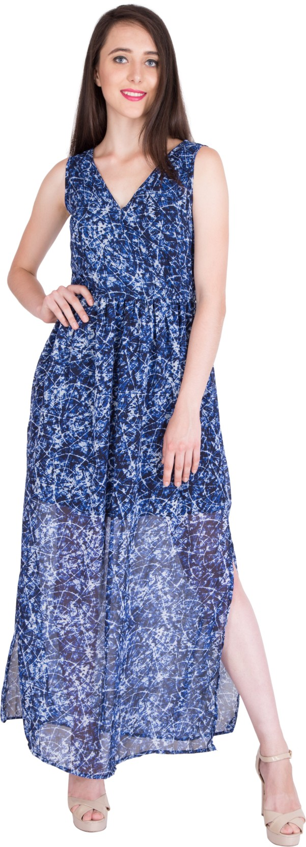 47c766087d0 Berrylush Women s Maxi Blue Dress - Buy Berrylush Women s Maxi Blue ...