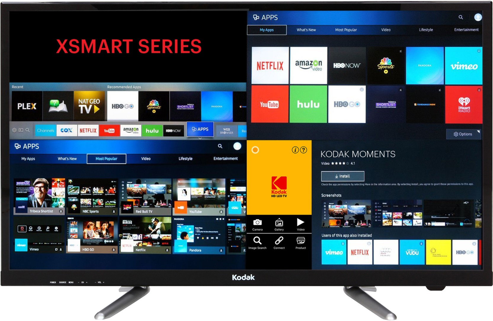 kodak 80cm 32 inch hd ready led smart tv online at best prices in india. Black Bedroom Furniture Sets. Home Design Ideas