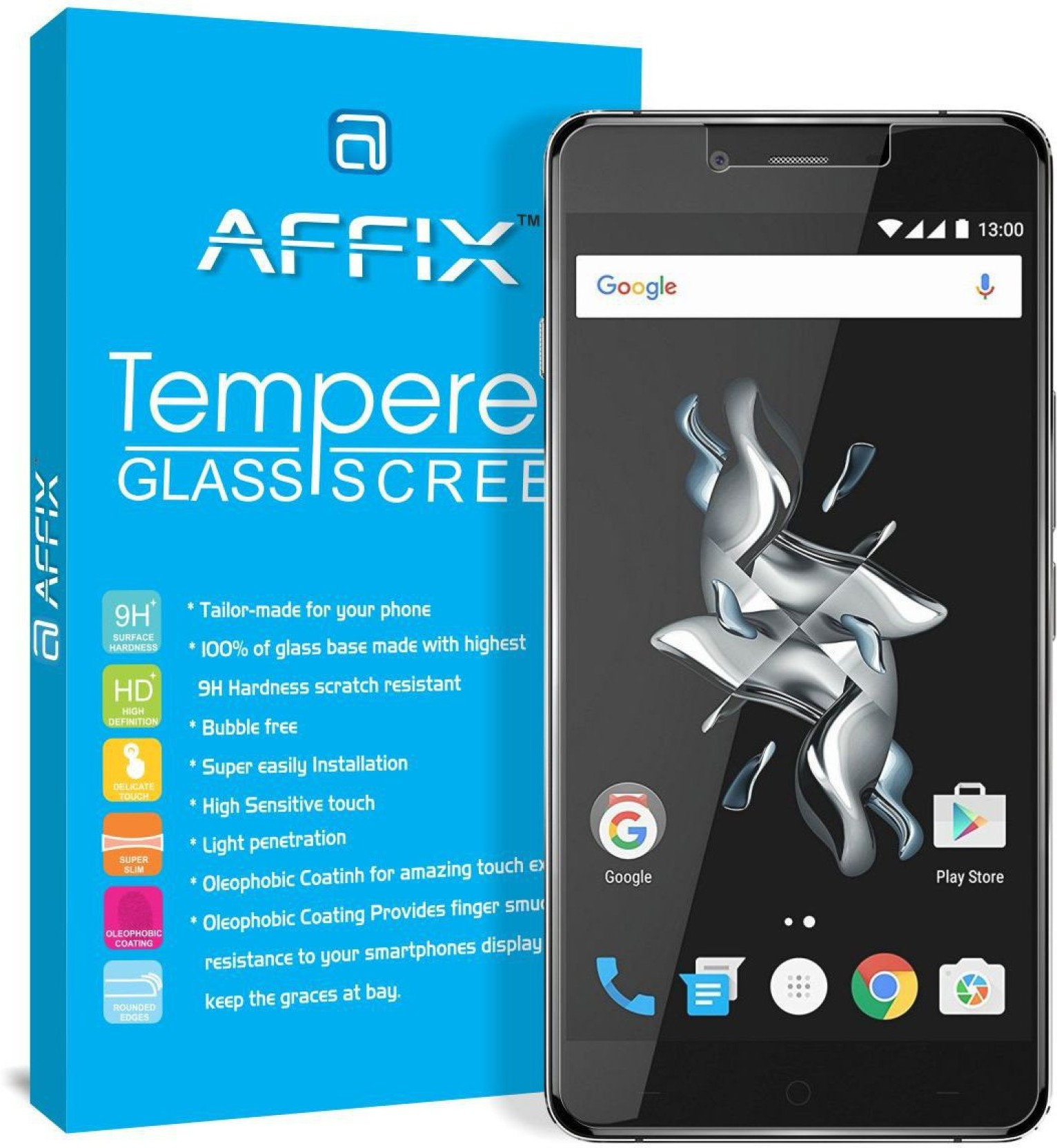 Affix Tempered Glass Guard For Oneplus X Tg Xiaomi Redmi 5a 5 Inch On Offer