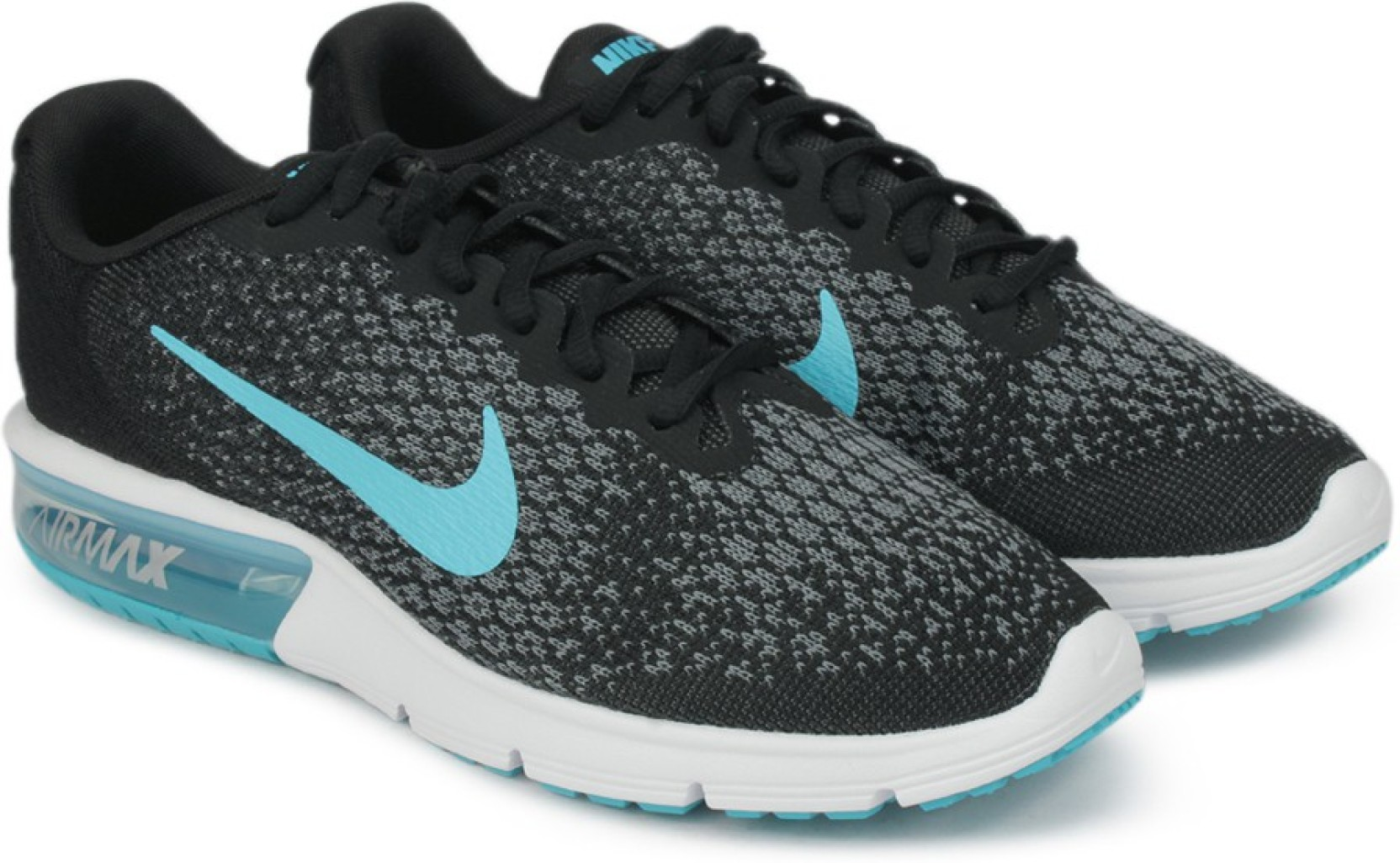 61b80ad14701f Nike AIR MAX SEQUENT 2 Running Shoes For Men - Buy BLACK CHLORINE ...