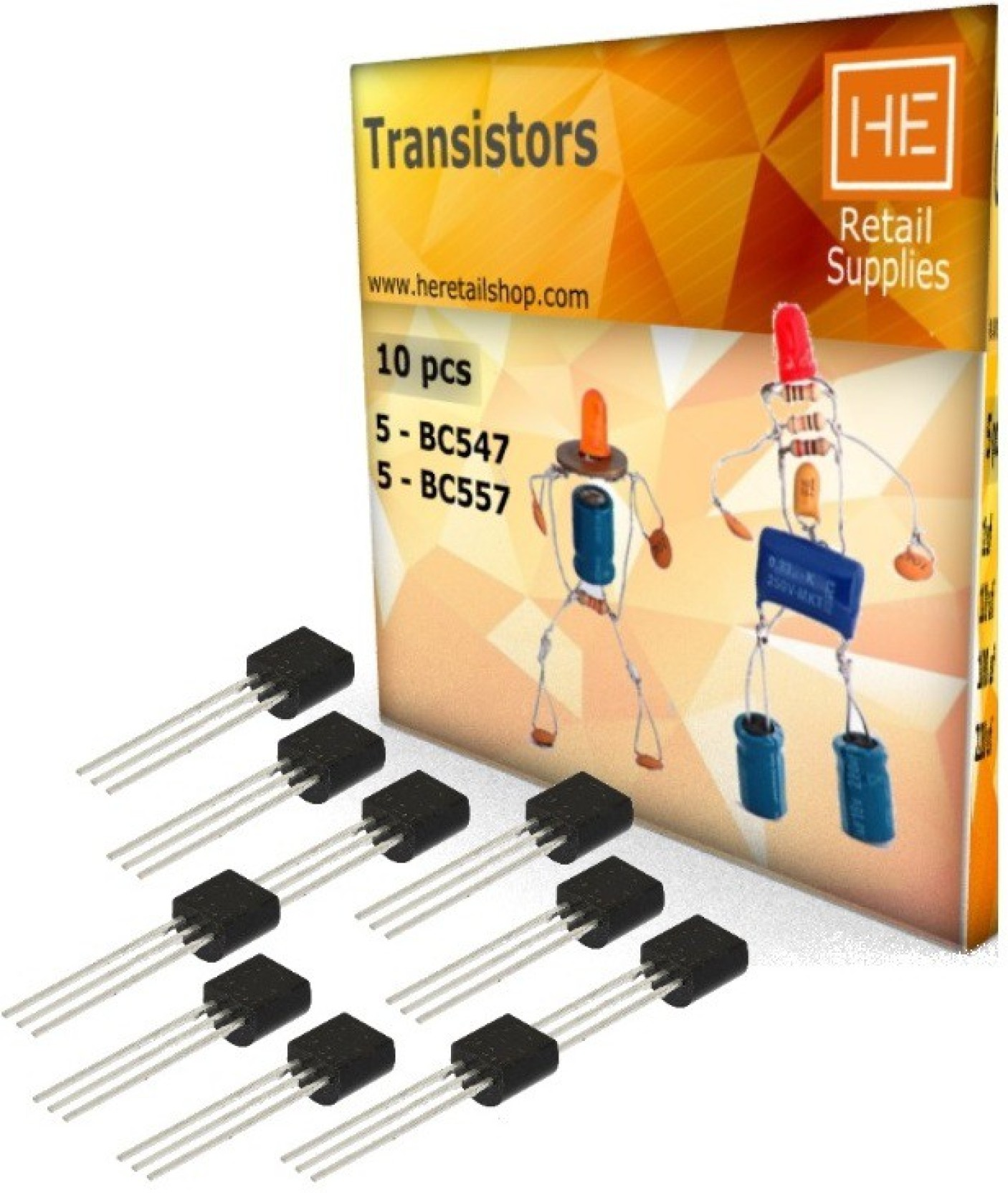 He Retail 5pcs Pnp Npn Bc 547 557 Transistor Electronic Components Regulator 33v 1a With Projects Circuits Add To Cart