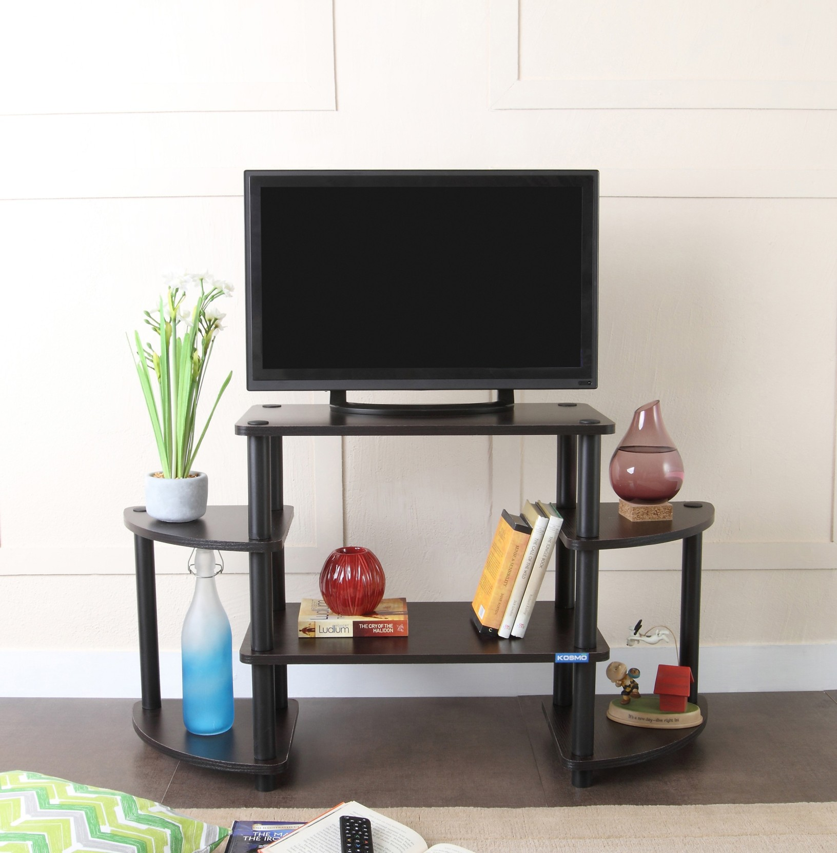 Spacewood Tubular Engineered Wood Tv Entertainment Unit Price In  # Table Tv En Coin