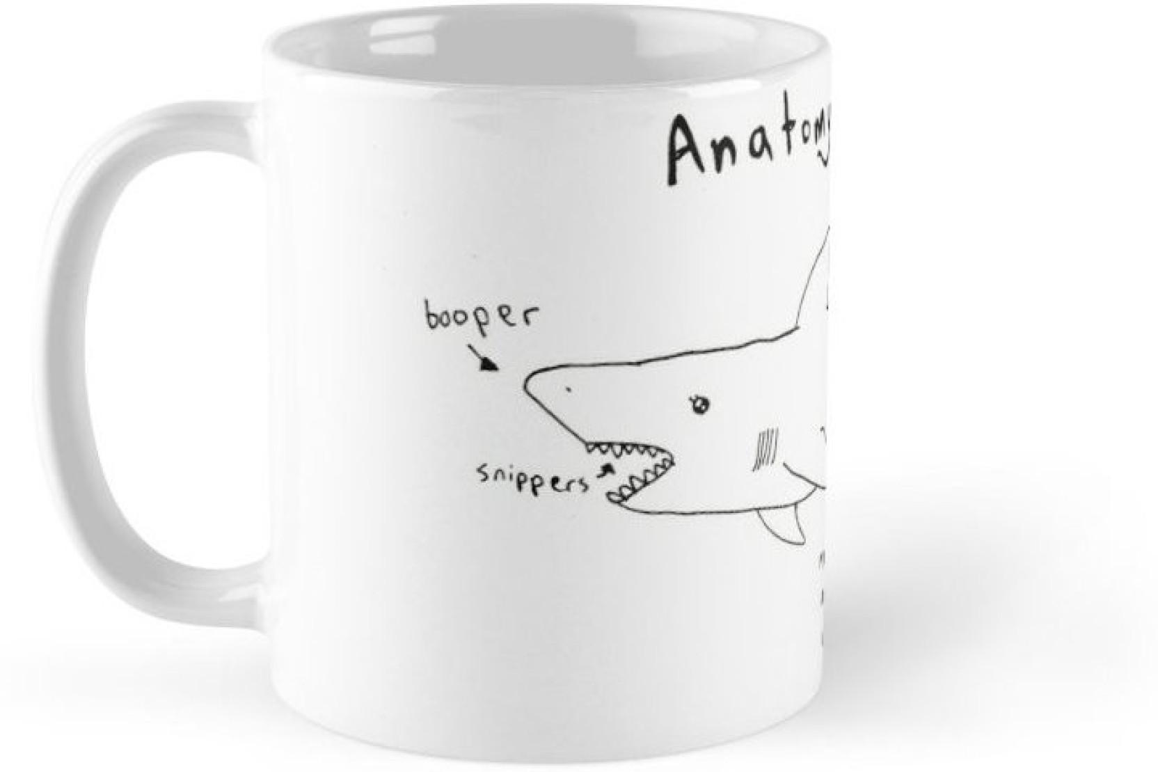 Shopsmeade Anatomy Of A Shark Humor Fun 32318 Ceramic Mug Price