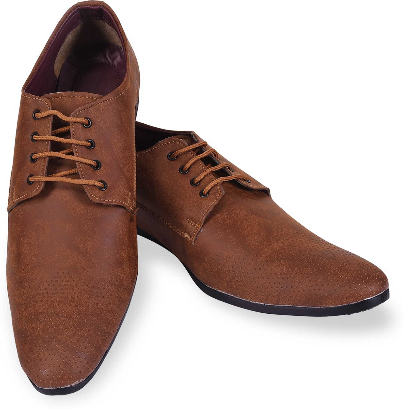 f8792ad30adc ROAD STAG Men s Formal Shoes with Texture( Brown) Lace Up For Men (Brown)