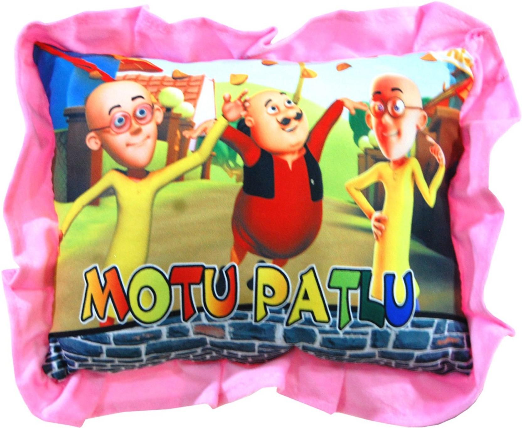 Vinr Motu Patlu Pillow Shaped Soft Toy 26 Cm Motu Patlu Pillow