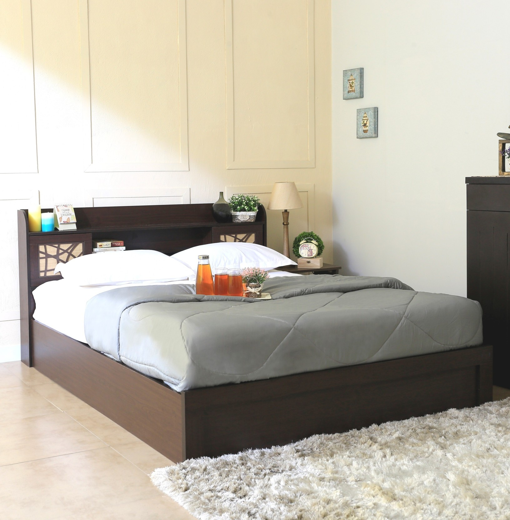 beds with mattress included spacewood mayflower engineered wood bed with storage 14499