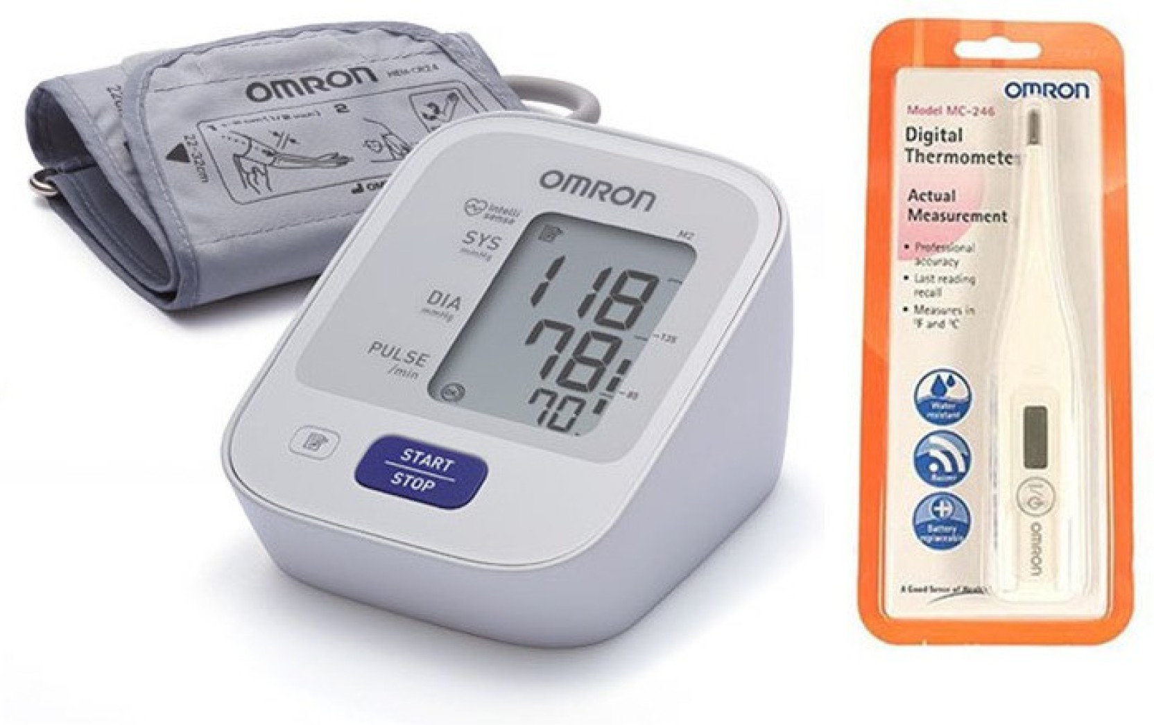 Omron Hem 7120 With 5 Years Warranty Upper Arm Bp Monitor And Mc 246 Thermometer Digital Add To Cart
