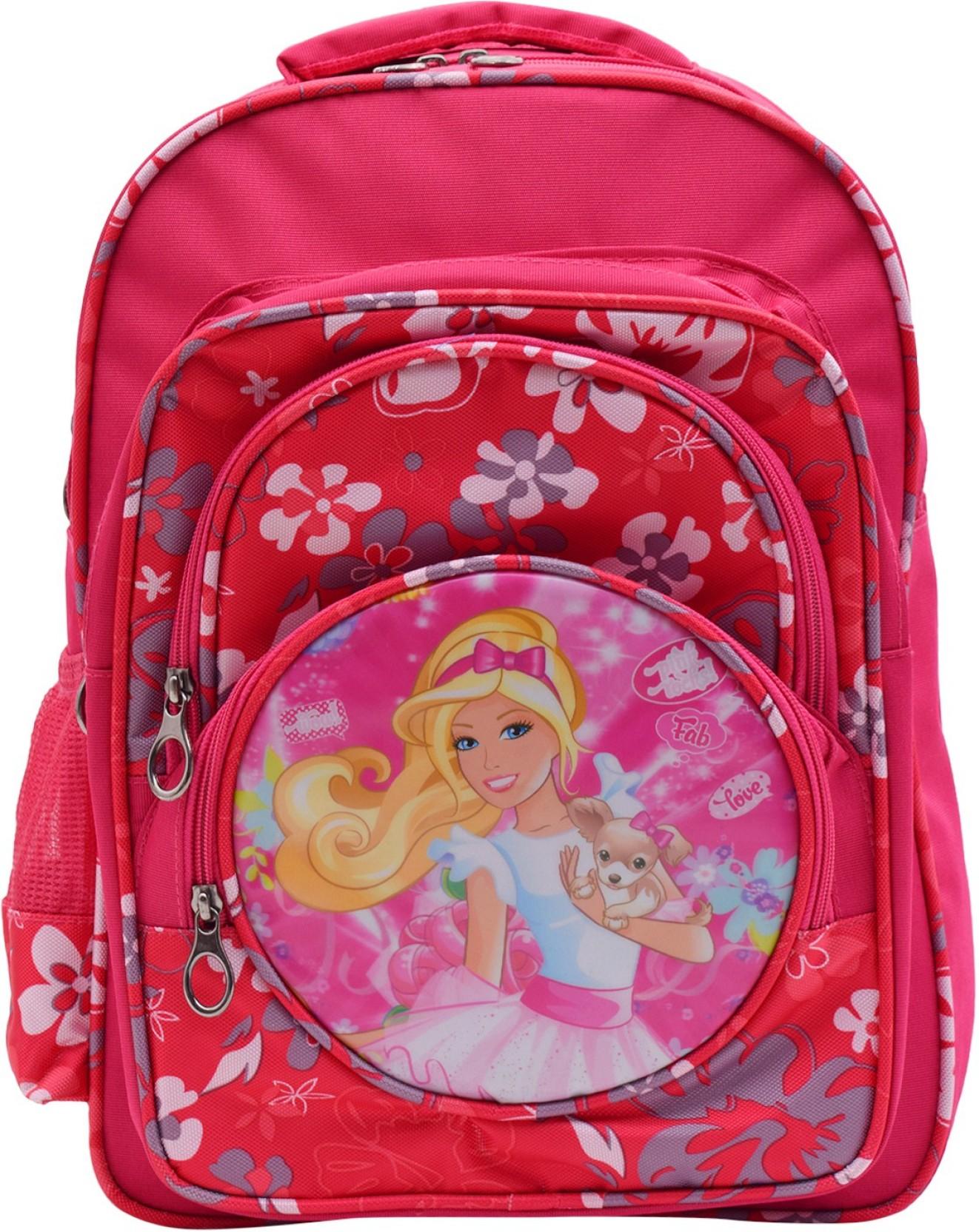 okji enterprises OKJI Frozen 18 Inches School Bag For girls- School Bag  Pack Age Group (5-11 Years) Pink Color Adjustable Strap Kids School bag  Waterproof ...