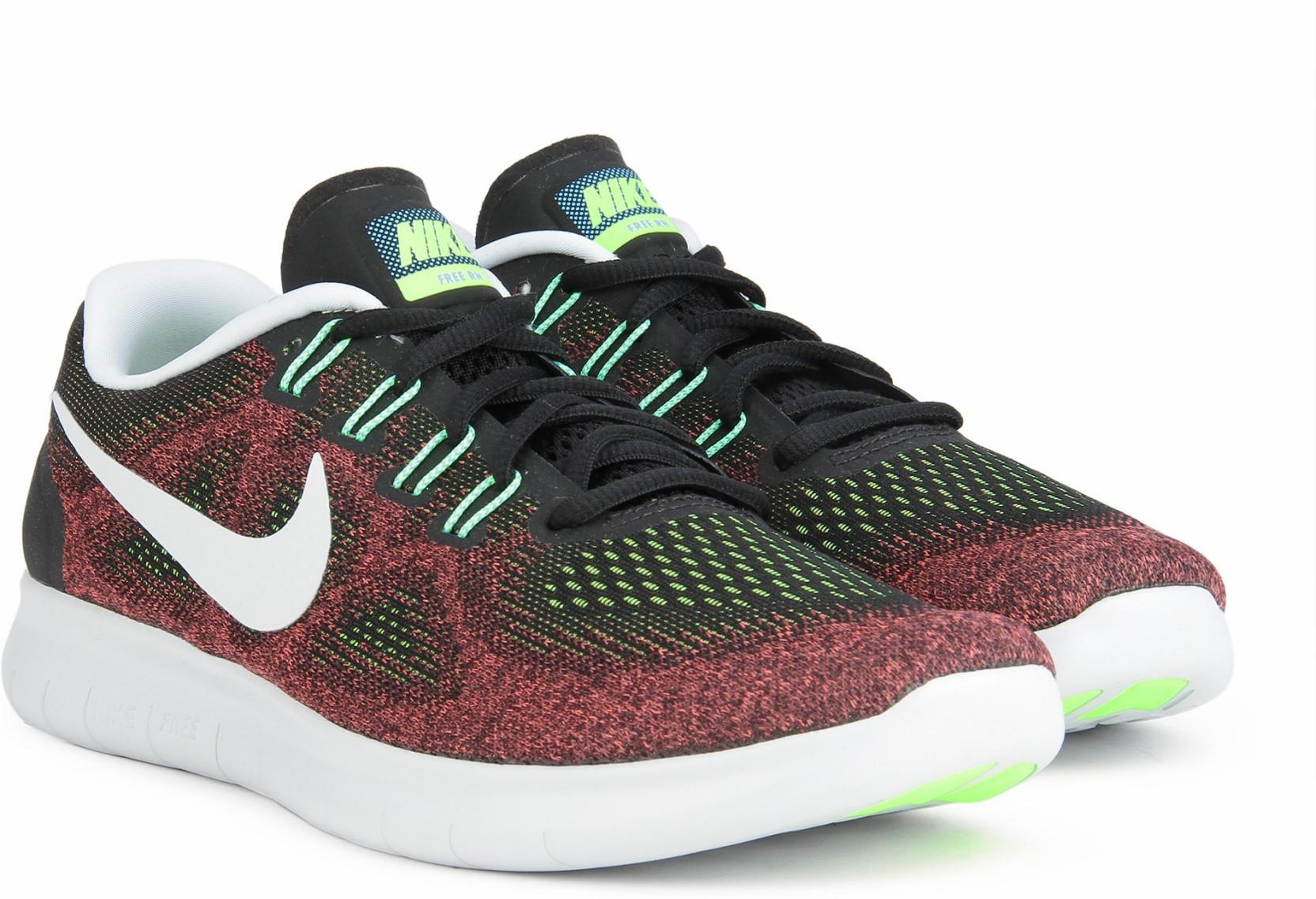 6f449d017934 Nike FREE RN 2017 Running Shoes For Men - Buy BLACK BLACK-HOT PUNCH ...