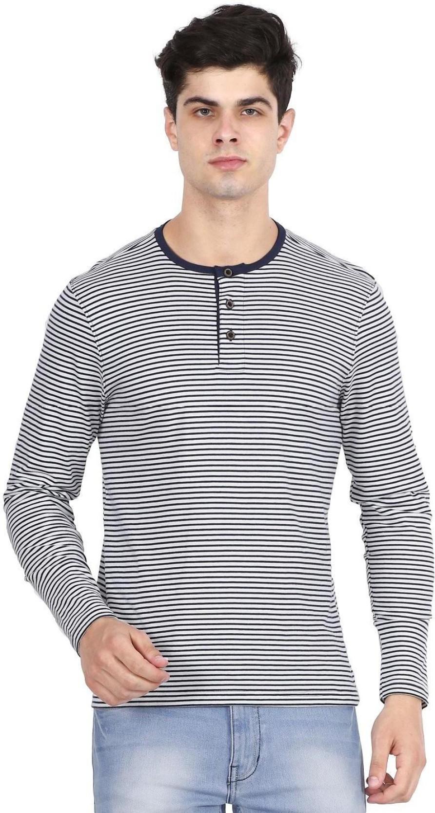 f0de0d047137 Hunt and Howe Striped Men's Henley Dark Blue, White T-Shirt - Buy ...